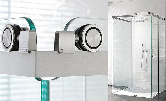 Раздвижное стеклянное душевое ограждение модель CLARO от MWE