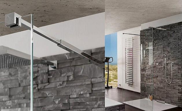Стеклянная душевая перегородка модель Walk In Akzent от MWE