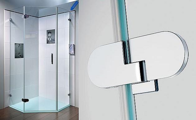 Распашное стеклянное душевое ограждение модель SPINELL PLUS от SPRINZ