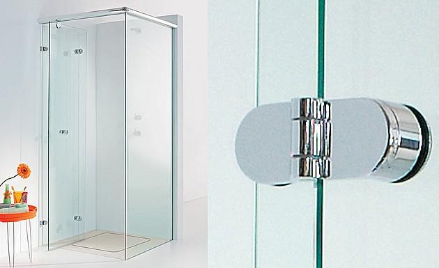 Распашное стеклянное душевое ограждение модель ONYX от SPRINZ