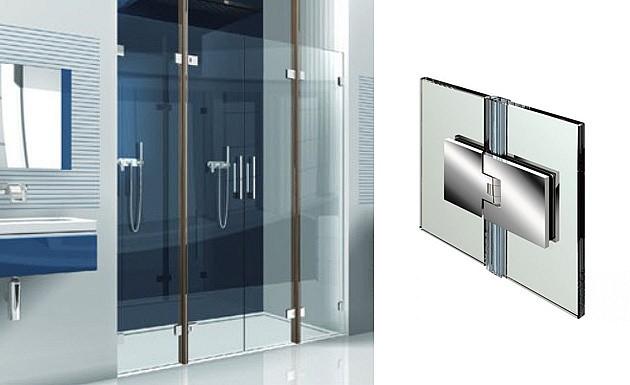 Стеклянная душевая дверь в нишу серии Flamea от PAULI