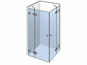 Распашное стеклянное душевое ограждение ТИП 205