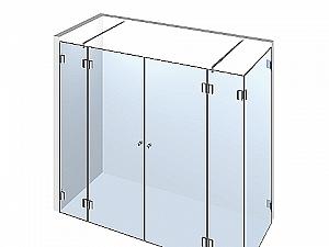 Распашное стеклянное душевое ограждение ТИП 206
