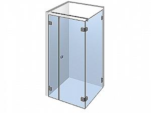 Распашное стеклянное душевое ограждение ТИП 207