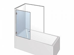 Распашное стеклянное душевое ограждение ТИП 208