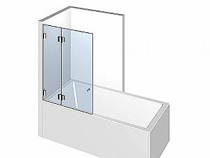 Распашное стеклянное душевое ограждение ТИП 301