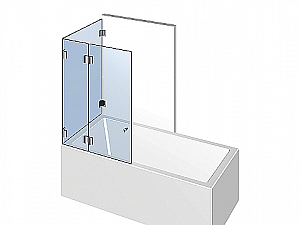 Распашное стеклянное душевое ограждение ТИП 303