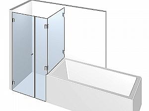 Распашное стеклянное душевое ограждение ТИП 306