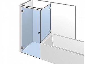 Распашное стеклянное душевое ограждение ТИП 307