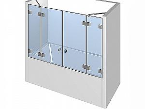 Распашное стеклянное душевое ограждение ТИП 308
