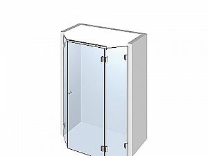 Распашное стеклянное душевое ограждение ТИП 501