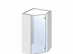 Распашное стеклянное душевое ограждение ТИП 502