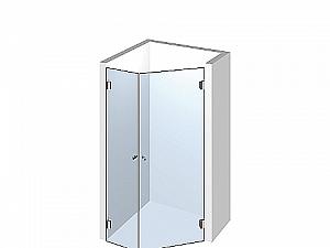 Распашное стеклянное душевое ограждение ТИП 504