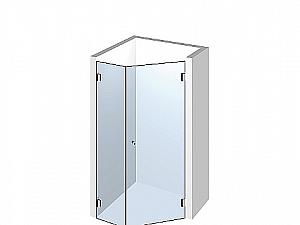 Распашное стеклянное душевое ограждение ТИП 505