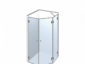 Распашное стеклянное душевое ограждение ТИП 506