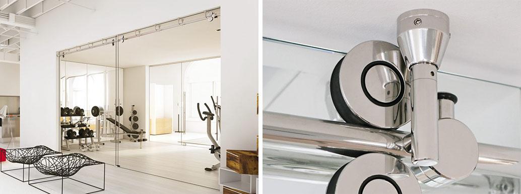 Раздвижная стеклянная дверь TWIN