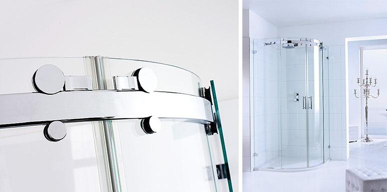 Раздвижное стеклянное душевое ограждение модель OPALIN S от SPRINZ