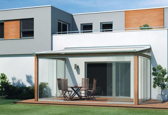 Остекление террасы раздвижной конструкцией SF20 от SUNFLEX (Германия)